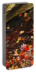 Autumn Leaves In River Portable Battery Charger