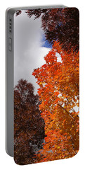 Autumn Looking Up Portable Battery Charger by Mick Anderson
