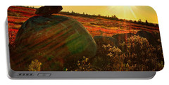 Autumn Morn In The Berry Field Portable Battery Charger