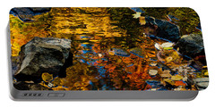 Portable Battery Charger featuring the photograph Autumn Reflections by Cheryl Baxter