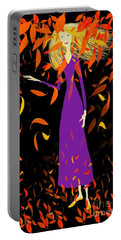 Portable Battery Charger featuring the digital art Autumn Spirit by Barbara Moignard