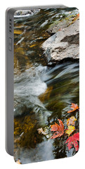 Portable Battery Charger featuring the photograph Autumn Stream by Cheryl Baxter