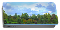 Portable Battery Charger featuring the photograph Autumn's Beauty At Hoyt Lake by Michael Frank Jr