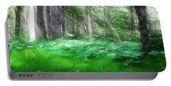 Portable Battery Charger featuring the photograph Avalon Forest Dreamscape by Mario Carini
