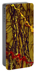 Portable Battery Charger featuring the digital art Shapes Of Fire by Leo Symon