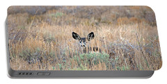 Portable Battery Charger featuring the photograph Babe In Hiding by Lynn Bauer