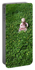 Baby In A Field Of Flowers Portable Battery Charger