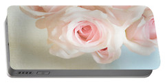 Baby Pink Roses Portable Battery Charger by Lyn Randle