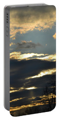 Backlit Clouds Portable Battery Charger by Bonnie Myszka
