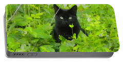 Backyard Black Cat Portable Battery Charger