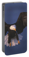 Bald Eagle Hovering In The Air Portable Battery Charger