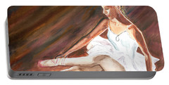 Portable Battery Charger featuring the painting Ballet Dancer by Clara Sue Beym