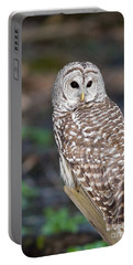 Portable Battery Charger featuring the photograph Barred Owl by Les Palenik