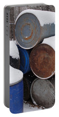 Portable Battery Charger featuring the photograph Barrel Of Food by Tiffany Erdman
