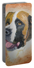Portable Battery Charger featuring the painting Baxter by Norm Starks