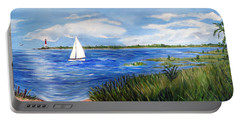 Bayville Marsh Portable Battery Charger by Clara Sue Beym