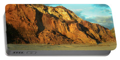 Beach Cliff At Sunset Portable Battery Charger