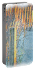 Beach Fence Portable Battery Charger by Lynne Jenkins