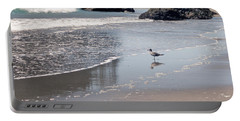Portable Battery Charger featuring the photograph Beachcomber by Sharon Elliott