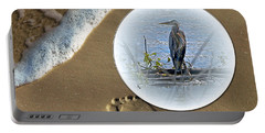 Beached Heron Portable Battery Charger
