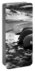 Portable Battery Charger featuring the photograph Beached Kayaks by Julia Wilcox