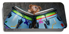 Portable Battery Charger featuring the photograph Bear And His Drums At Walt Disney World by Thomas Woolworth