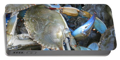 Portable Battery Charger featuring the photograph Beaufort Blue Crabs by Patricia Greer