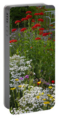 Portable Battery Charger featuring the photograph Bed Of Flowers by Johanna Bruwer