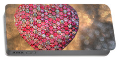 Bedazzle My Heart Portable Battery Charger