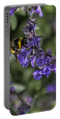 Portable Battery Charger featuring the photograph Bee by David Gleeson
