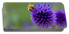 Bee On Garden Flower Portable Battery Charger
