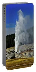 Portable Battery Charger featuring the photograph Beehive Geyser by Greg Norrell