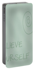 Believe In Yourself Portable Battery Charger