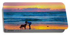 Portable Battery Charger featuring the photograph Bella At Sunrise by Alice Gipson