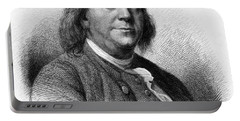 Portable Battery Charger featuring the photograph Benjamin Franklin by International  Images