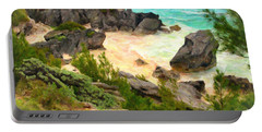 Portable Battery Charger featuring the photograph Bermuda Hidden Beach by Verena Matthew