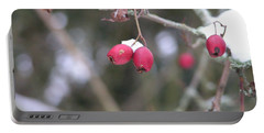 Berries In Winter Portable Battery Charger by Rand Swift