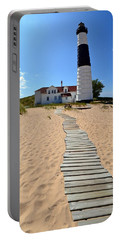 Big Sable Lighthouse At Ludington State Park Portable Battery Charger