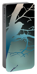 Bird At Twilight Portable Battery Charger