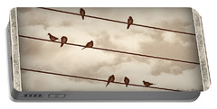 Birds On Wires Portable Battery Charger by Susan Kinney