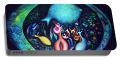 Portable Battery Charger featuring the painting Birth Of Genes by Lynn Buettner