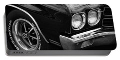 Black 1970 Chevelle Ss 396  Portable Battery Charger