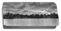 Portable Battery Charger featuring the photograph Black And White Autumn Day by Michael Frank Jr