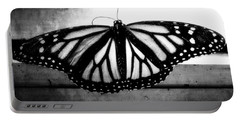 Portable Battery Charger featuring the photograph Black Butterfly by Julia Wilcox