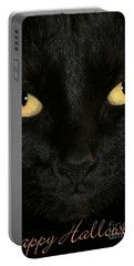 Black Cat Halloween Card Portable Battery Charger
