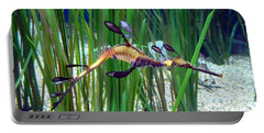 Portable Battery Charger featuring the photograph Black Dragon Seahorse by Carla Parris