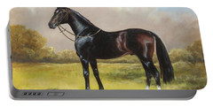 Black English Horse Portable Battery Charger