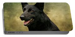 Black German Shepherd Dog IIi Portable Battery Charger