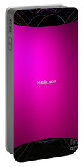 Black Pink Portable Battery Charger