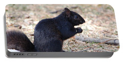 Black Squirrel Of Central Park Portable Battery Charger